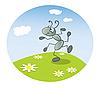 Векторный клипарт: танцующий муравей