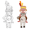 Vector clipart: American Indian
