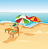 Vector clipart: Boy on the beach