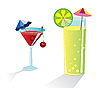 Vector clipart: cocktail glasses