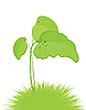 Vector clipart: burdock leaves