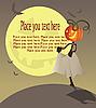Vector clipart: Halloween girl