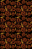 Vector clipart: Halloween seamless background