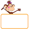 Vector clipart: Monkey with frame