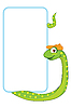 Vector clipart: frame with snake