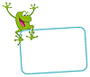 Vector clipart: Label - joyful frog