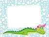 Frame with crocodile | Stock Vector Graphics