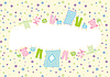 Vektor Cliparts: Baby-Rahmen mit Unterwäsche