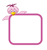 Frame with cartoon bird | Stock Vector Graphics
