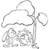 Кролик и ежика под лист