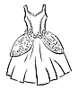 Vector clipart: Retro dress