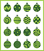 Vector clipart: Christmas balls