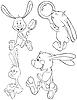 Conjunto de conejos | Ilustración vectorial