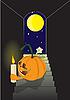 Векторный клипарт: Тыква и луны