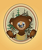 Bear cub in frame | Stock Illustration