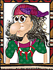 마녀 바바 Yaga | Stock Illustration