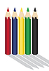 Vector clipart: Colour pencils