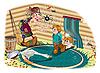 소년과 마녀 | Stock Illustration