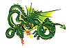 Three-headed dragon | Stock Illustration