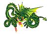 Dragón con tres cabezas | Ilustración