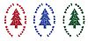 Vector clipart: christmas trees