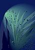 Vector clipart: Blue bubble background