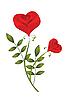 ID 3056922 | Zwei stilisierte Rosen | Stock Vektorgrafik | CLIPARTO