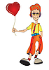 Vector clipart: teenager with heart