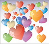 Vector clipart: Colour hearts
