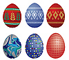Vector clipart: Easter eggs