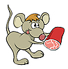 Vector clipart: complaisant mouse with food