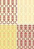 Vector clipart: four victorian seamless backgrounds