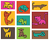 Vector clipart: Cats and dogs