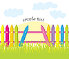 Vector clipart: fence and grass