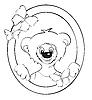 Bear in frame | Stock Vector Graphics