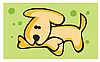 Vector clipart: dog and bone
