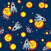 Векторный клипарт: Космический бесшовный фон