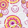 Vector clipart: Seamless background mechanical rotation