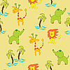 Vector clipart: Seamless jungle background