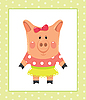 Vector clipart: Funny piggy