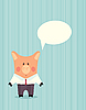 Свинья в деловой костюм