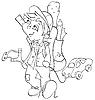 Векторный клипарт: непослушный мальчик и игрушечная машинка