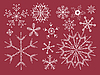 Vector clipart: Red set of snowflakes