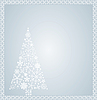 Vector clipart: Christmas tree and frame