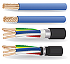 Vector clipart: electric copper cables