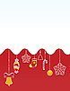 Векторный клипарт: красная новогодняя открытка