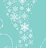 Векторный клипарт: новогодний фон со снежинками
