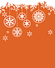 Vector clipart: Christmas background with snowflakes