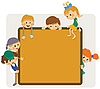Kids frame for notice | Stock Vector Graphics