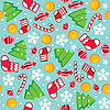 Vector clipart: Christmas seamless pattern